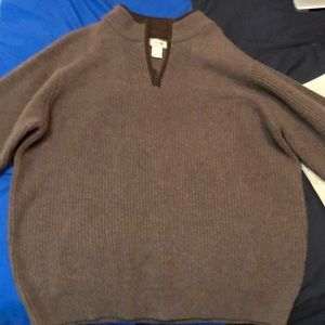 LL Bean wool Quarter zip